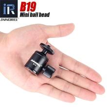 رأس كروي صغير B19 لهاتف محمول ثلاثي القوائم هاتف ذكي ثلاثي القوائم من سبائك الألومنيوم لكاميرا سيلفي خفيفة الوزن