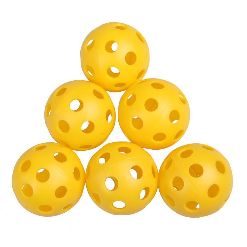 2019 New 50Pcs Plastic Whiffle Airflow Hollow Golf Practice Training Sports Balls Golf Acccessories EA14