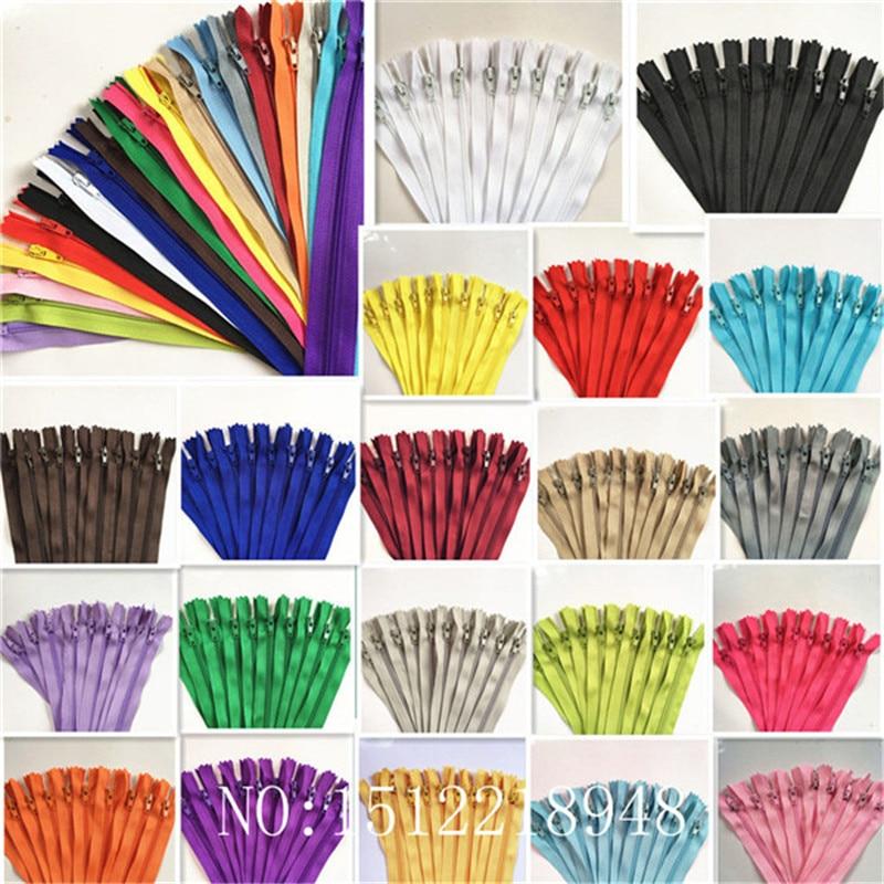 Zíper de bobina de nylon de extremidade fechada 3 #, alfaiate, artesanato de costura (3-40 100), Polegada peças 7.5-100 cm crafter's & fgdqrs (20/cor u picareta)
