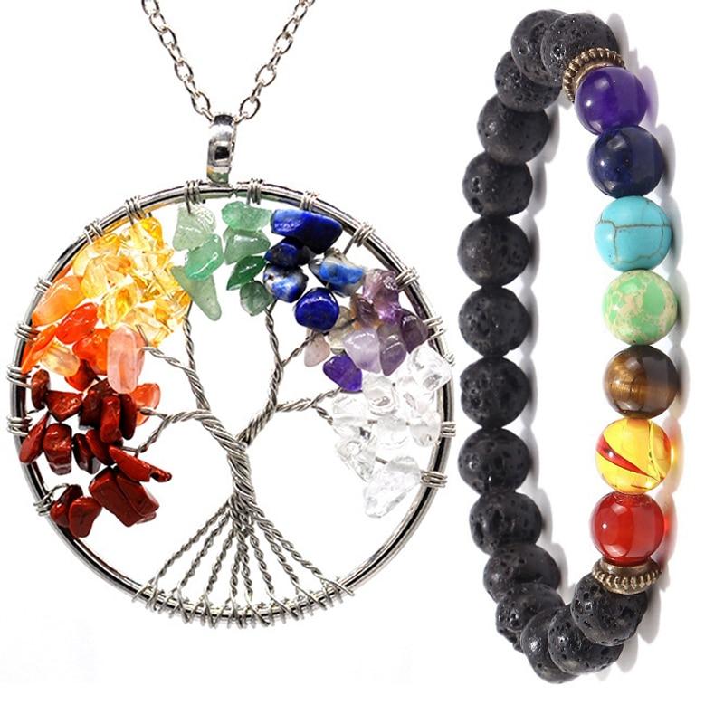 Tree Of Life Chakra Bracelet Colourful Birthday Anniversary Easter Gift