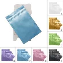 50 шт/лот из алюминиевой фольги мешки ziplock мешок матовая
