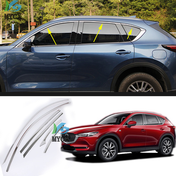 FIT For Mazda CX5 CX-5 CX 5 2017 2018 2019 UPPER WINDOW SILL CHROME TRIM LINING MOLDING STLYING COVER GARNISH SURROUND