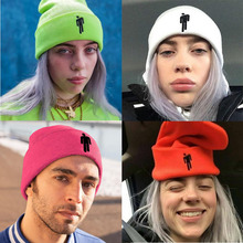 Winter Hats Woman Knitted Beanies  Little Man's Fashion Embroidery Knitted Caps Man Autumn Hat Female Hip-hop Beanie Bonnet crescent embroidery flanging knitted beanie
