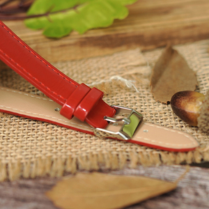 Image 5 - BOBO BIRD WJ09 Simple Style Bamboo Women Watch Bamboo Dial Genuine Red PU Leather Band Quartz Watches Relojes mujer Accept OEM
