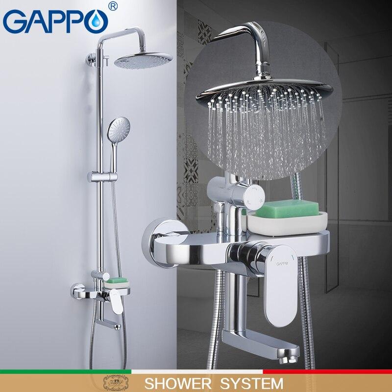 GAPPO robinets de douche salle de bains pluie cascade robinets de douche ensemble Chrome blanc système de douche mitigeur de douche robinet