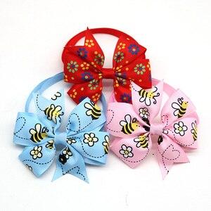 60 шт., галстуки-бабочки для собак, кошек, милых цветов и пчел, домашних животных, щенков, регулируемый бант, аксессуары для собак, изделия для ...