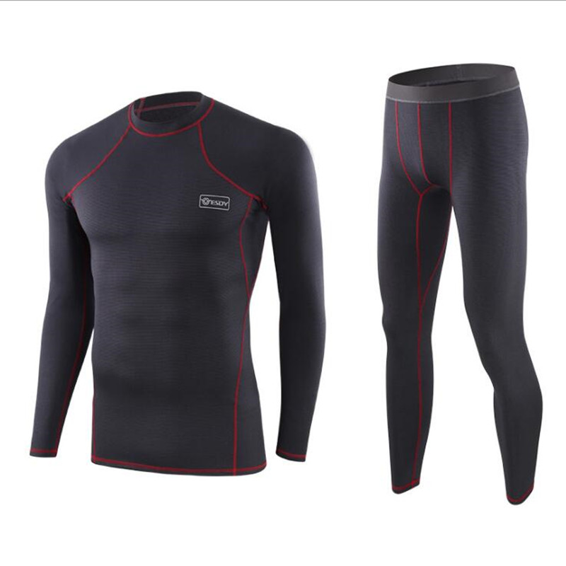 New Pattern Men's Clothing Long Johns Plus Size Thermal Underwear Men Winter Warm Two Piece Set Sexy Quick Dry Men Clothes