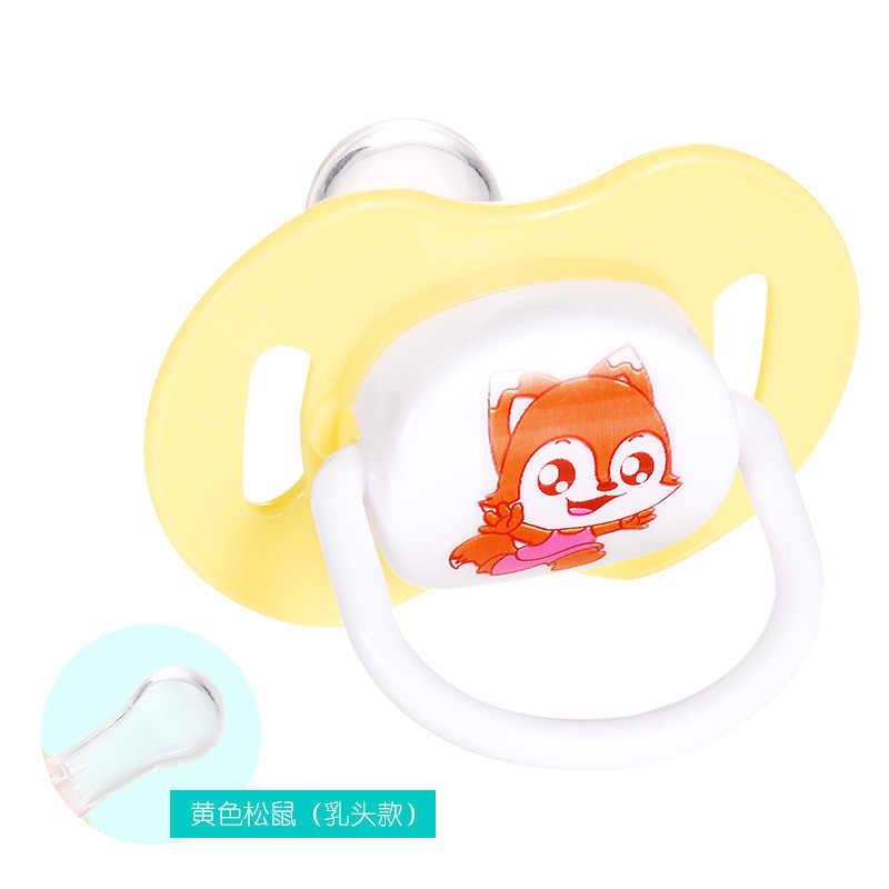 1 pçs ortodôntica chupeta novo bebê mamilo de grau alimentício silicone cabeça redonda infantil recém-nascido soother ortodôntico seguro mordedor cuidados