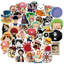 50pcs Anime ONE PIECE Stickers Luffy Zoro Ace Sticker Waterproof Decals Skateboard Sticker