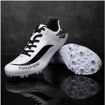 Mężczyźni kobiety buty lekkoatletyczne męskie buty sportowe Outdoor Sport kolce trampki Unisex buty do biegania nastolatki buty do biegania tanie i dobre opinie Syntetyczny Hard court Profesjonalne Dla dorosłych Oddychające Buty utwór i pola Średnie (b m) Bezpłatne elastyczne