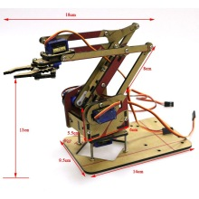 Robot Arm  Kit Assembly Acrylic Machinery Arm Manipulator Claw Robot Div Gripper Arduino  Maker Pi Equipped 4 Steering Gear