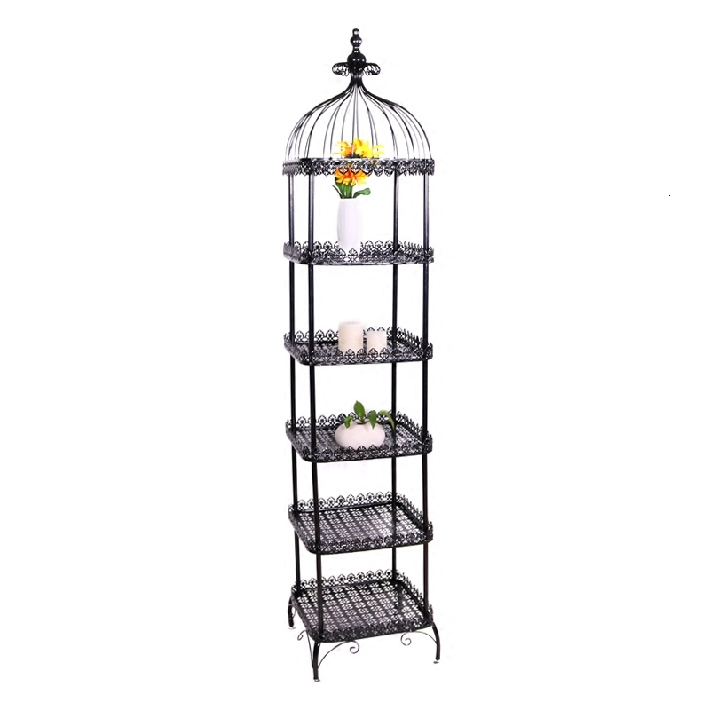 European Style To Ground Flower Rack Iron Art Multi-storey Indoor Ornament Balcony A Living Room Meaty Botany Cage Shelf