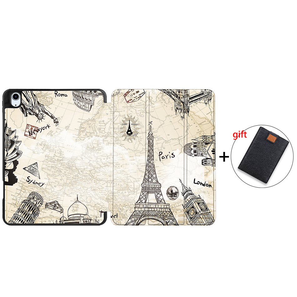 IPBC09 Gray MTT Tablet Case For iPad Air 4th Generation 10 9 inch Soft TPU PU Leather Flip