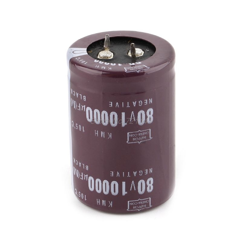 35x50mm 80V 10000uF Electrolytic Capacitor Filter Current Condenser For Audio Amplifier Dropship