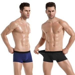 Image 2 - Boxer Men Underwear Homens Shorts Pugilista Cueca Solid Boxershort Soft Comfortable Boxers New style Fashion 7M09