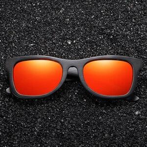 Image 3 - EZREAL gafas de sol polarizadas de madera para hombre y mujer, anteojos de sol de marca de lujo, de diseñador, estilo Vintage, con caja redonda
