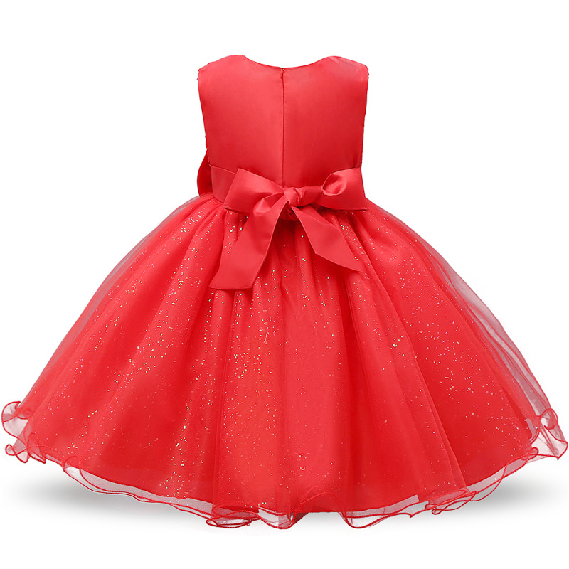New Year Girl Red Christmas Dress Baby Children Princess Party Costume Kids Dresses For Girls Clothes Santa Outfits 2 3 4 5 6T 2