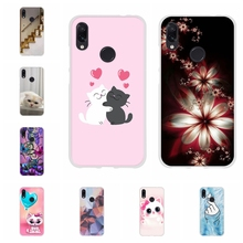 For Xiaomi Redmi 3 3s Case Soft TPU Silicone Note 4 4X 7 Pro Cover Flowers Patterned Go Funda