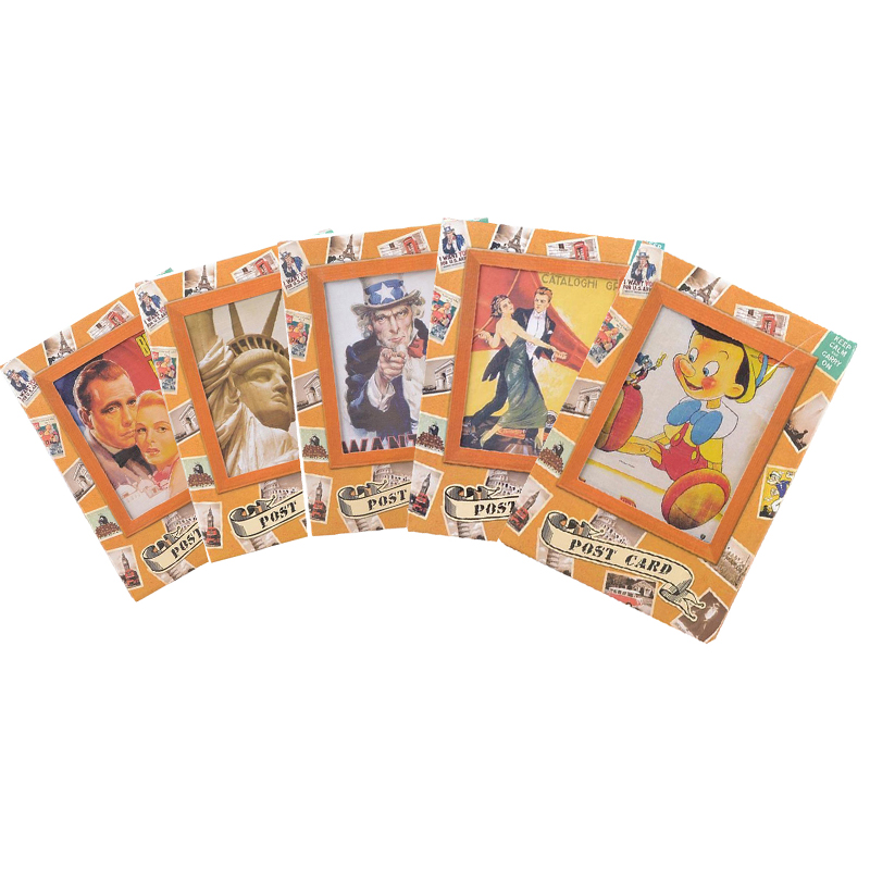 5packs/lot Five Styles Design Gifts Postcard Collection Decoration Greeting Card