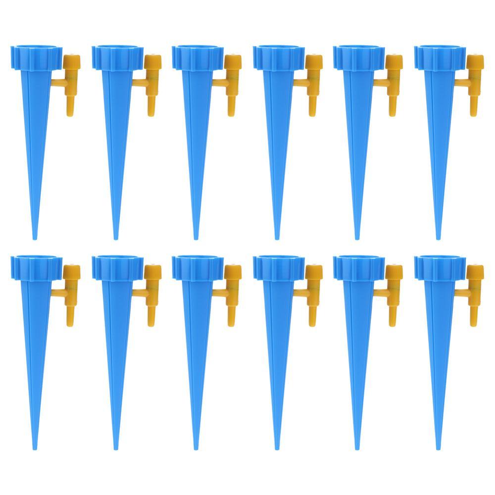 1-30 шт./компл. автоматического полива Спайк зеленый капельного полива и орошения Системы автоматического полива Спайк для цветочных растений в помещении инструмент для полива - Цвет: 12pcs Blue