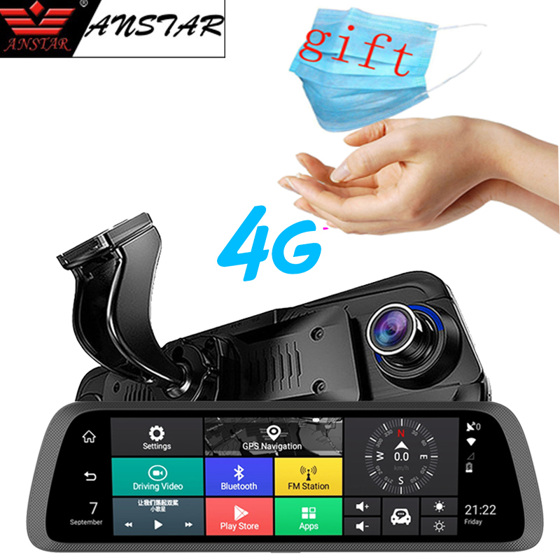 Anstar 10 Android 4G Special Rearview Mirror DVR HD 1920*1080 Dash Cam ADAS GPS WIFI Auto Camera Video Recorder Car DVR 789 image