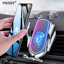 Qi Wireless Car Charger Sensor Automatic Clamping Air Vent Phone Holder Stand 10W Fast Charging For iPhone 11 Pro Huawei P30 Pro