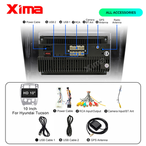 Image 5 - XIMA Car Radio Android 9.0 2G+32G DSP Multimedia Video Player For Hyundai Tucson 2006 2007 2008 2010 Navigation GPS 2 din