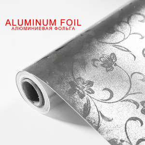 Top Kitchen Stickers Aluminum Foil Flowers Oilproof Waterproof Kitchen Stove Cabinet Self Adhesive Wall Sticker DIY Wallpaper
