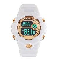 Cronómetro Digital Lcd para hombre y niño, reloj de goma para deporte, luminoso, analógico, multifuncional, marca superior, a la moda