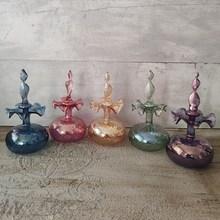 Botella de perfume colonia de vidrio desinfectante líquido botellas recargables muebles vintage decoración del hogar esencias de fragancia botella botella de fragancia de belleza regalo del día de la madre