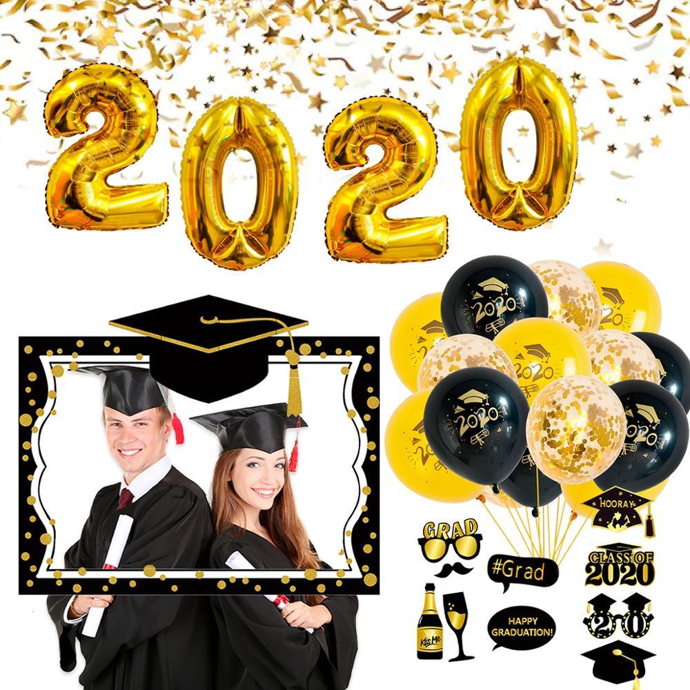 FENGRISE Graduation Party Balloon Graduate Class Of 2020 Graduation Photo Booth Props Congratulation Graduation Party Decor