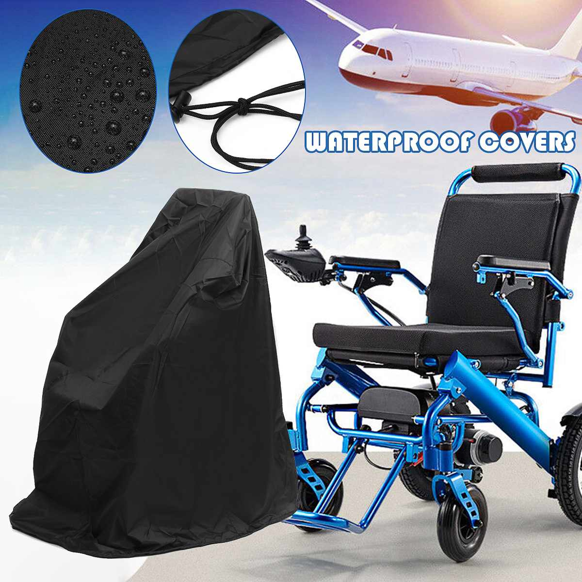 Electric Wheelchair Bicycle Covers Outdoor Waterproof Sun UV Dust Wind Proof Cover Stroller Accessories Pushchairs Raincoat