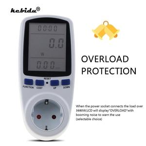Image 1 - Kebidu medidores de potencia de CA de 230V, vatímetro Digital de toma, medidor de consumo de energía de vatios, Analizador de electricidad, Monitor EU