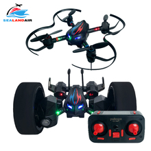 Mini Folding Unmanned Aerial Vehicle RC Drone & Car Foldable Quadcopter Magic 2-IN-1 Deformation Remote Control Helicopter