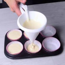 Chocolate doce massa funil cozinha panqueca cupcake creme dispensador massa molde de cozimento pastelaria diy ferramentas