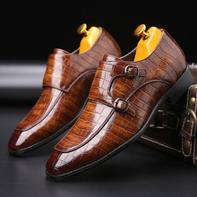 Merkmak Men's Brand Leather Formal Shoes dress shoes Oxfords Fashion Retro Shoes Elegant work Pointed Toe Footwear Drop Shipping