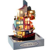 Cutebee FAI DA TE Casa Delle Bambole con la Copertura Antipolvere Casa di Bambola In Miniatura Casa Delle Bambole Mobili giocattolo per I Bambini Nuovo Anno del Regalo di Natale Casa
