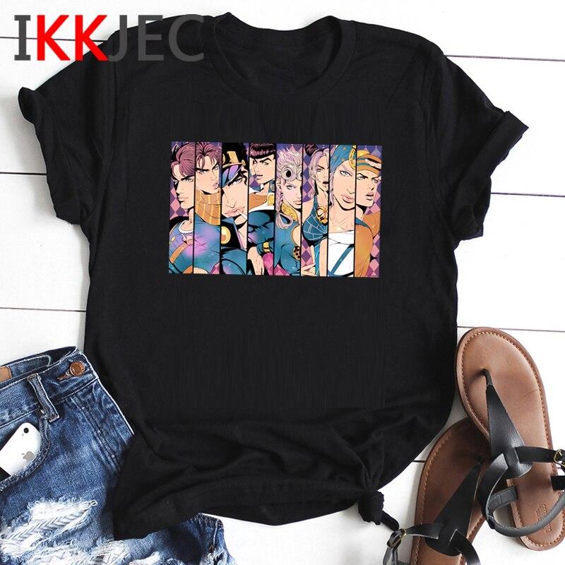 Jojo Bizzare Adventure Funny Cartoon Tshirt Men Unisex Jojo Fashion Anime T-shirt Graphic Summer Tshirt Streetwear Top Tees Male