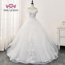 Bonito bordado vestido de novia 2020 Europa gorro nuevo manga Apliques de encaje vestidos de novia con abalorios WX0168