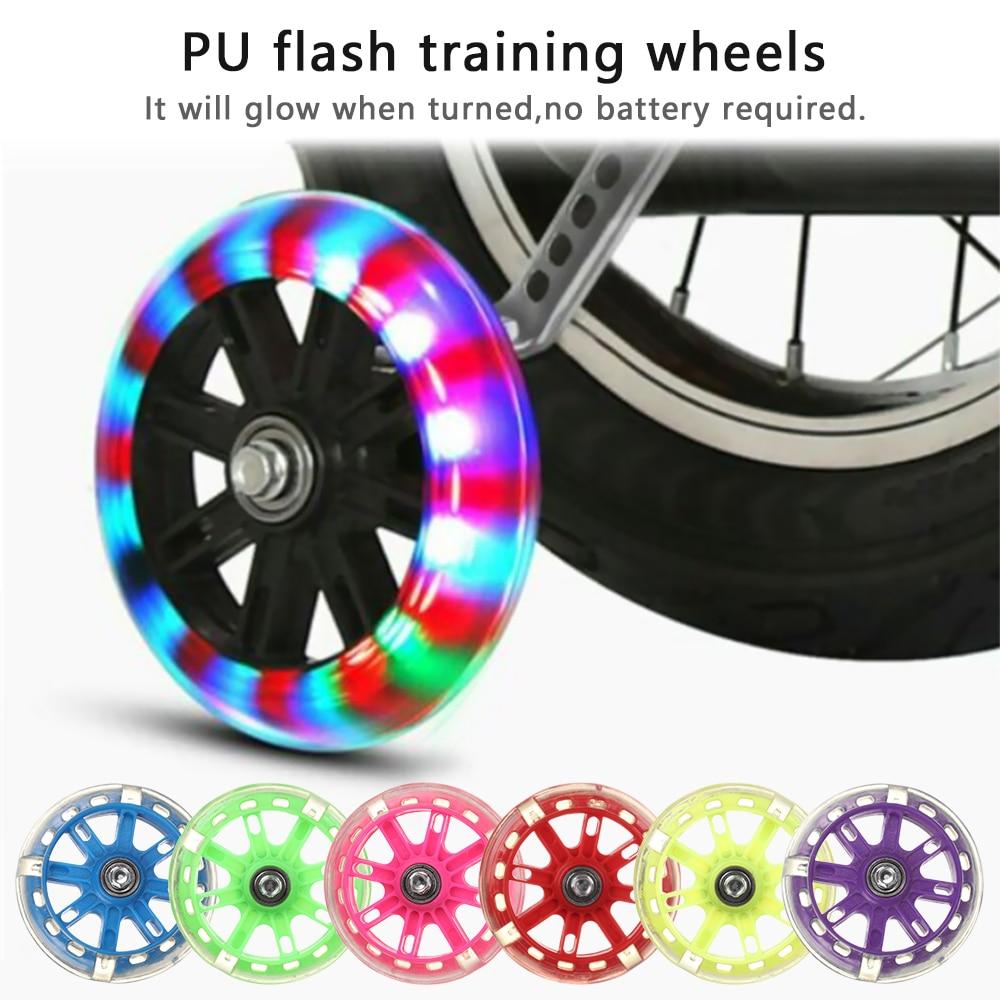 "2PCS Child Kids Bicycle Bike Cycle Stabilisers 12-20/"" Universal LED Flash Wheels"
