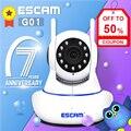 ESCAM G01 Dual Antenne 1080P Pan/Tilt WiFi IP IR Kamera Unterstützung ONVIF Max Bis zu 128GB video Monitor ip kamera-in Überwachungskameras aus Sicherheit und Schutz bei