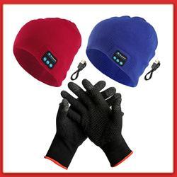 Bluetooth casque chapeau doux tricoté musique Auriculares 5.0 Brimless musique lavable sans fil appel Sport d'hiver pour livraison directe