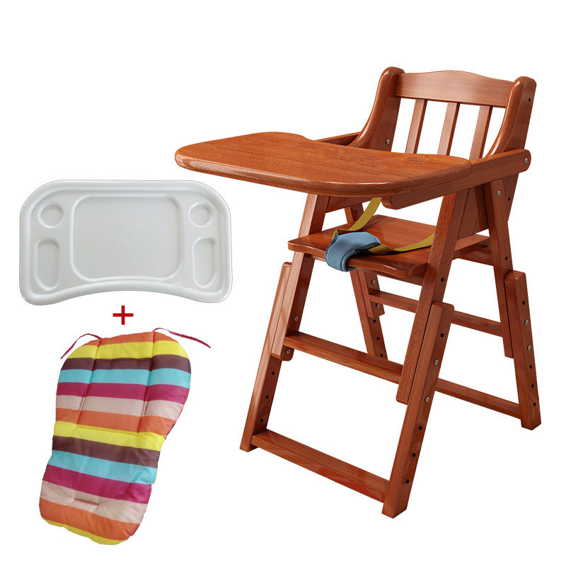 Solid Wood Adjustable Multifunctional Child Dining Chair Wood Foldble Baby Dining Chair  Toddler Chair  Booster Seat For Baby