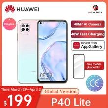 HUAWEI Hisilicon Kirin 810 Octa çekirdek P40 Lite 6GB 128GB Smartphone 48MP AI kamera 6.4 ''FHD ekran 40W QC الهاتف الخلوي Celular