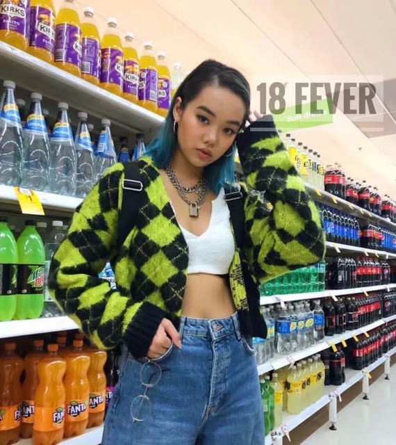 Vintage argyle knitted cardigans women sweaters kawaii mohair sweater winter korean sweater clothes 2020 new 3