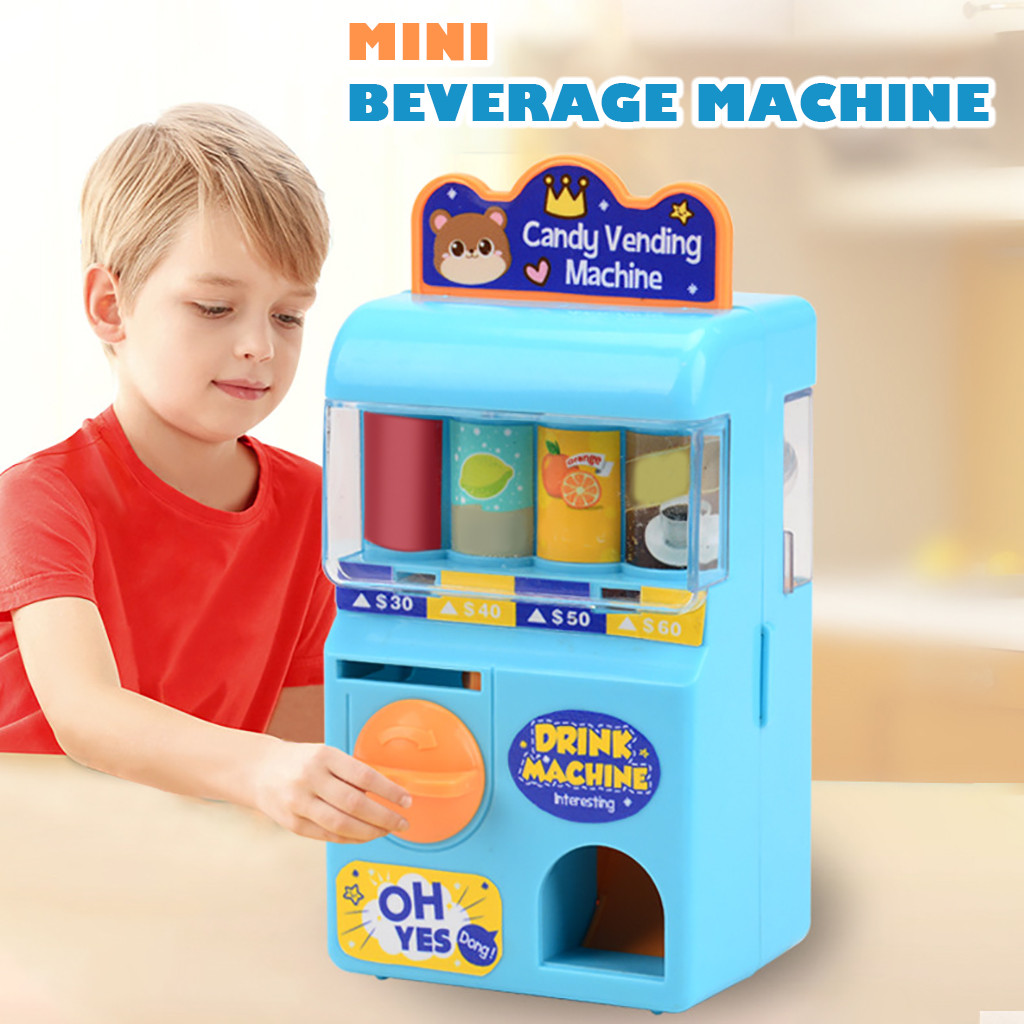 New Children's Toy Vending Machine Simulation Sound Shopping Set Baby Game Toys Pretend Play Children Education Birthday Gift#p4