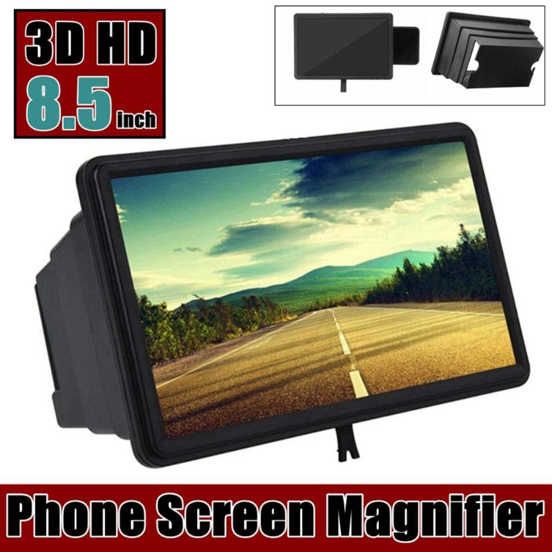8 Inch Cell Phone Screen Magnifier 1.5X 3D HD Screen Enlarged Movie Video Amplifier With Foldable Holder Stand Video Amplifier