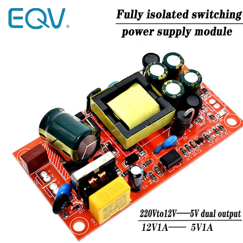 12V 1A / 5V1A Fully Isolated Switching Power Supply Module / 220V Turn 12V 5V Dual Output / AC-DC Module