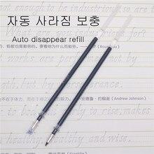 50 pces que desaparecem o reenchimento 0.5mm automático desbotado da pena do vaporizador da pena para exercícios da escrita do texto desaparece em 30 minutos
