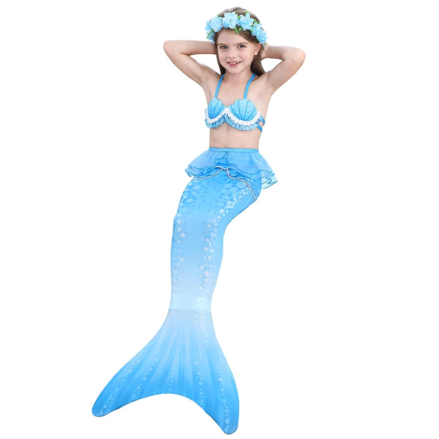 Mermaid Tail Cosplay Costume Swimsuit Set
